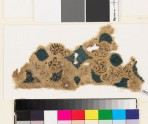 Textile fragment with swirling vegetal pattern and trefoil shapes (EA1993.106)