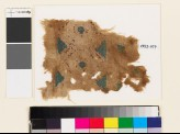 Textile fragment with linked hexagons, circles, and triangles (EA1993.107)