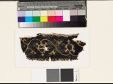 Textile fragment with scrolling stems, leaves, and palmettes (EA1993.116)