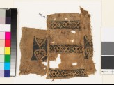 Textile fragment with bands of diamond-shapes and hearts (EA1993.131)