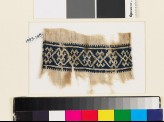 Textile fragment with double diamond-shapes and crosses (EA1993.149)