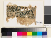 Textile fragment from a belt or scarf with trefoils and leaves (EA1993.150)