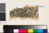 Textile fragment from a belt or scarf with trefoils and leaves (EA1993.151)