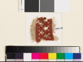 Textile fragment with palmettes, a chevron stem, and leaves (EA1993.155)