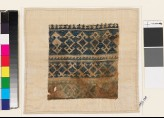 Textile fragment with double palmettes, diamond-shapes, and hooks (EA1993.158)
