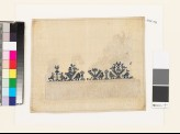Textile fragment with stylized pairs of birds and trees (EA1993.178)