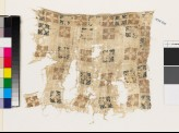 Textile fragment with squares and flower-heads (EA1993.205)