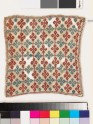 Textile fragment with linked diamond-shapes (EA1993.210)