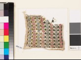 Textile fragment with linked rosettes and leaves (EA1993.216)