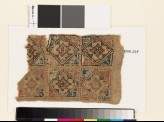 Textile fragment with squares, diamond-shapes, and quatrefoils (EA1993.225)