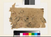 Textile fragment with rosettes and leaves (EA1993.232)