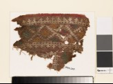 Textile fragment with diamond-shapes and crosses (EA1993.243)