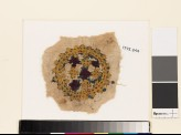 Roundel textile fragment with crosses and linked crosses (EA1993.244)