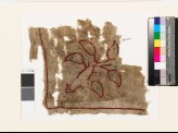 Textile fragment with plant and leaves (EA1993.257)