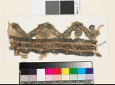 Textile fragment with chevrons, circles, and stars (EA1993.259)