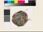 Roundel textile fragment with elaborate lobed cross (EA1993.274)