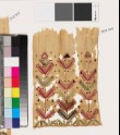 Textile fragment with stylized plants and chevrons (EA1993.303)
