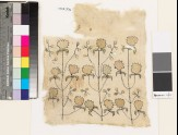Textile fragment with stylized flowers and leaves (EA1993.306)