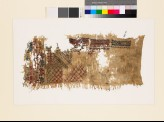 Sampler fragment with lattice, stars, and geometric and floral shapes (EA1993.317)