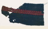 Textile fragment from a garment with band of stylized flowers