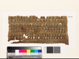 Textile fragment with bands of diagonal crosses (EA1993.348)