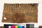 Textile fragment with bands of diagonal crosses (EA1993.349)