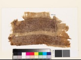Textile fragment from a garment with bands of stylized floral shapes, quatrefoils, and rosettes (EA1993.361)
