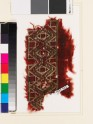 Textile fragment with band of linked diamond-shapes and squares (EA1993.362)