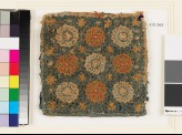 Textile fragment with circles, stars, and interlace, possibly a pot holder (EA1993.363)
