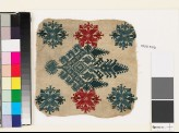 Textile fragment with an elaborate medallion, trees, birds, and flowers (EA1993.370)