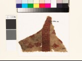 Textile fragment with stylized birds, palmettes, and diamond-shapes (EA1993.46)