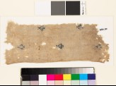 Textile fragment with diamond-shaped medallions and palmettes (EA1993.50)