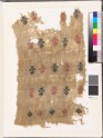 Textile fragment with stylized floral shapes and diamond-shapes (EA1993.85)