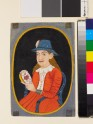 European, probably Dutch, woman holding an enamelled box