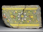 Border tile from the tomb of Madin Sahib with floral meander design