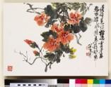 Orange flowering branch