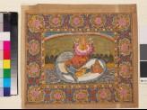 Vishnu and Lakshmi on the serpent Shesha, with Brahma on the lotus