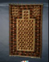 Baluchi prayer rug with geometric shapes