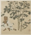 Wang Huizhi sitting under a bamboo tree