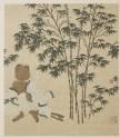 Wang Huizhi sitting under a bamboo tree