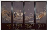 Screen with cormorants fishing at night (EA2000.3)