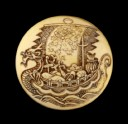 Manjū netsuke with a takarabune, or treasure ship