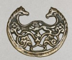 Talismanic plaque, or tokcha, with confronted horses