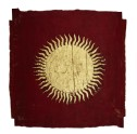 Royal flag with sun symbol