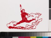 Male figure from the ballet Red Detachment of Women mid-grande jeté