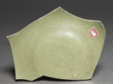 Greenware sherd with floral decoration