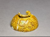 Yellow-glazed sherd with dragon