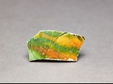 Sherd with three-colour glaze