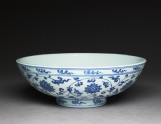 Blue-and-white bowl with lotus scrolls (EAX.1389)