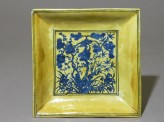 Square dish with flowers (EAX.1418)